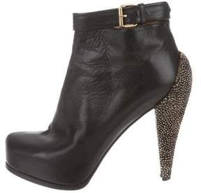3.1 Phillip Lim Leather Ponyhair-Trimmed Ankle Boots