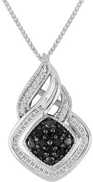 Black Diamond FINE JEWELRY 1/3 CT. T.W. White & Color-Enhanced Sterling Silver Pendant