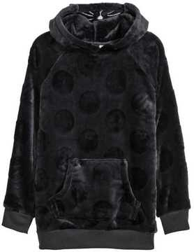 H&M Velour Hooded Top