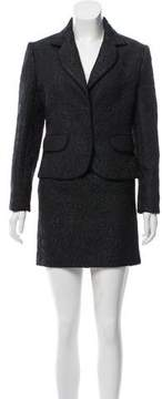 Christian Dior Jacquard Mini Skirt Suit