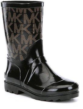 MICHAEL Michael Kors Girls Daisy Logo Rain Boots
