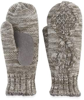 Isotoner Women's Marled Cable Knit Mittens