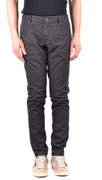 Incotex Men's Grey Wool Pants.