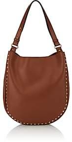 Barneys New York Women's Studded Hobo Bag-Brown