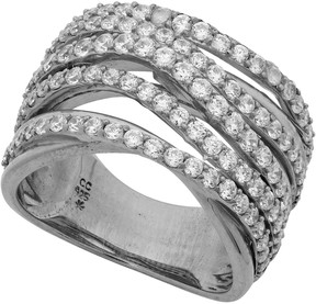 Crislu Twisted 5 Row CZ Pave Ring