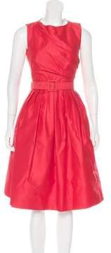 Andrew Gn Pleated Sleeveless Dress