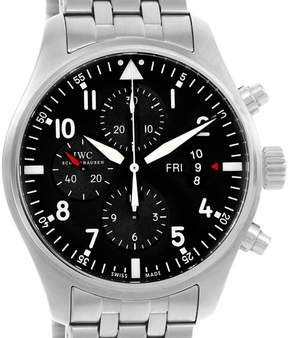 IWC Pilot IW377704 Stainless Steel Black Dial Chronograph 43mm Mens Watch