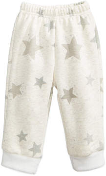 First Impressions Printed Jogger Pants with Faux-Fur Hems, Baby Boys & Girls (0-24 months), Created for Macy's