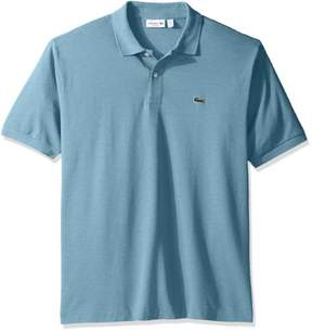 Lacoste Men Short Sleeve Classic Chine Fabric Original Fit Polo - M - Blue
