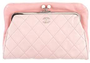 Chanel Quilted Kiss-Lock Clutch