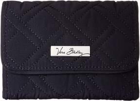 Vera Bradley Riley Compact Wallet Bill-fold Wallet - CLASSIC NAVY - STYLE
