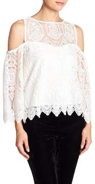 Cupcakes And Cashmere Ally Cold Shoulder Lace Blouse