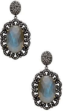 Amrapali Women's Champagne Diamond & Labradorite Drop Earrings