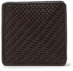 Ermenegildo Zegna Pelle Tessuta Leather Coin Wallet