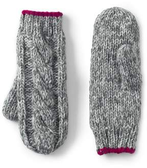 Lands' End Lands'end Girls Chunky Cable Mittens