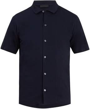 Prada Spread-collar cotton-piqué polo shirt