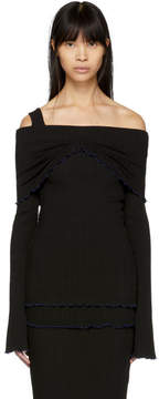 Ellery Black Limozeen Off-the-Shoulder Sweater
