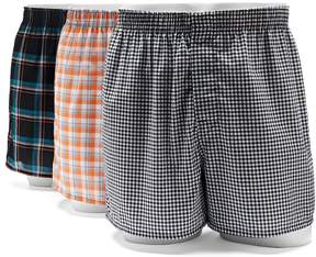 Hanes Men's Ultimate 3-pack Tagless Woven Boxers