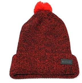 Nike Unisex Cuff Pom Lebron Patch Red Beanie Hat OS