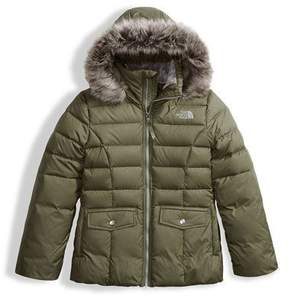 The North Face Gotham 2.0 Down Hooded Jacket w/ Faux-Fur Trim, Green, Size XXS-XL