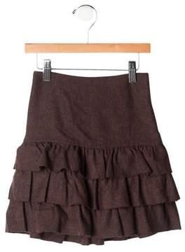 Rachel Riley Girls' Ruffled Wool Skirt