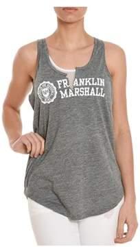 Franklin & Marshall Women's Grey Viscose Tank Top.