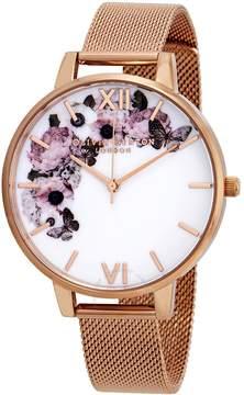 Olivia Burton Signature Florals White Dial Ladies Watch