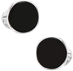Ox & Bull Trading Co. Men's Sterling Silver Classic Formal Onyx Cufflinks