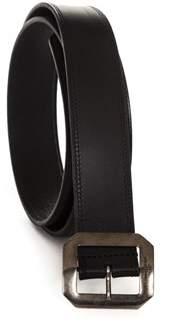 Saint Laurent Men's Black Leather Belt.