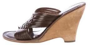 MICHAEL Michael Kors Leather Slide Wedges