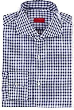 Isaia Men's Gingham Cotton-Linen Dress Shirt
