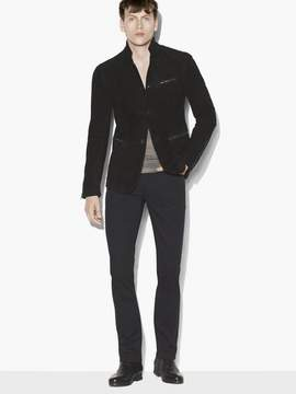 John Varvatos Suede Button Front Jacket