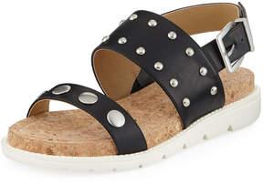 Adrienne Vittadini Perry Studded Sport Sandal, Black