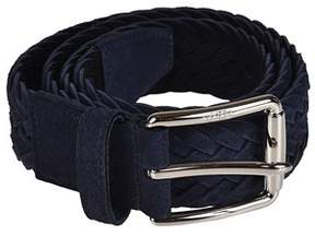 Tod's Men's Blue Suede Belt.