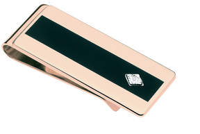 Asstd National Brand Diamond Accent Black Enamel And Pink Gold Money Clip