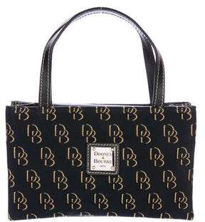 Dooney & Bourke Leather-Trimmed Monogram Tote - BLACK - STYLE