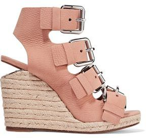 Alexander Wang Jo Nubuck Wedge Sandals