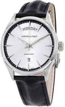 Hamilton Jazzmaster Silver Dial Black Leather Men's Watch