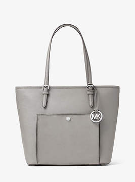 Michael Kors Jet Set Travel Large Leather Tote - GREY - STYLE