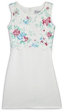 Blush by Us Angels Girls' Floral Bodice Dress - Big Kid