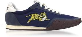 Kenzo Navy Blue Nylon and Suede Move Men's Sneakers