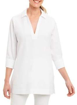 Foxcroft Shaped Point Collar Tunic