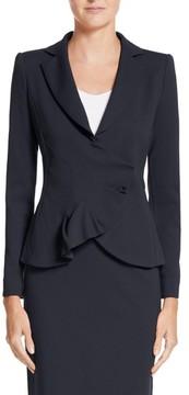 Emporio Armani Women's Asymmetrical Pleated Front Jacket