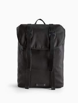 Flap Drawstring Backpack