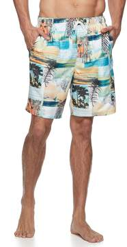 Croft & Barrow Big & Tall Sunday News Swim Trunks