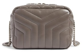 Saint Laurent Small Loulou Leather Bowling Bag - Blue - BLACK - STYLE