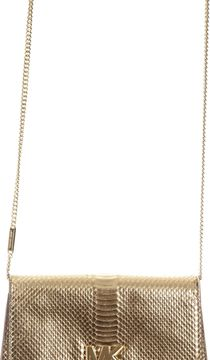 MICHAEL Michael Kors Crocodile Effect Leather Clutch - PALE GOLD - STYLE