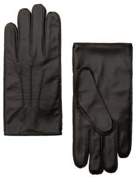 Mango Outlet Leather gloves