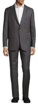 Hickey Freeman Classic-Fit Milburn Wool Checked Suit
