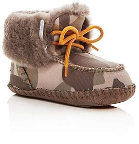 UGG Boys' Sparrow Camo Print Shearling Lace Up Booties - Baby